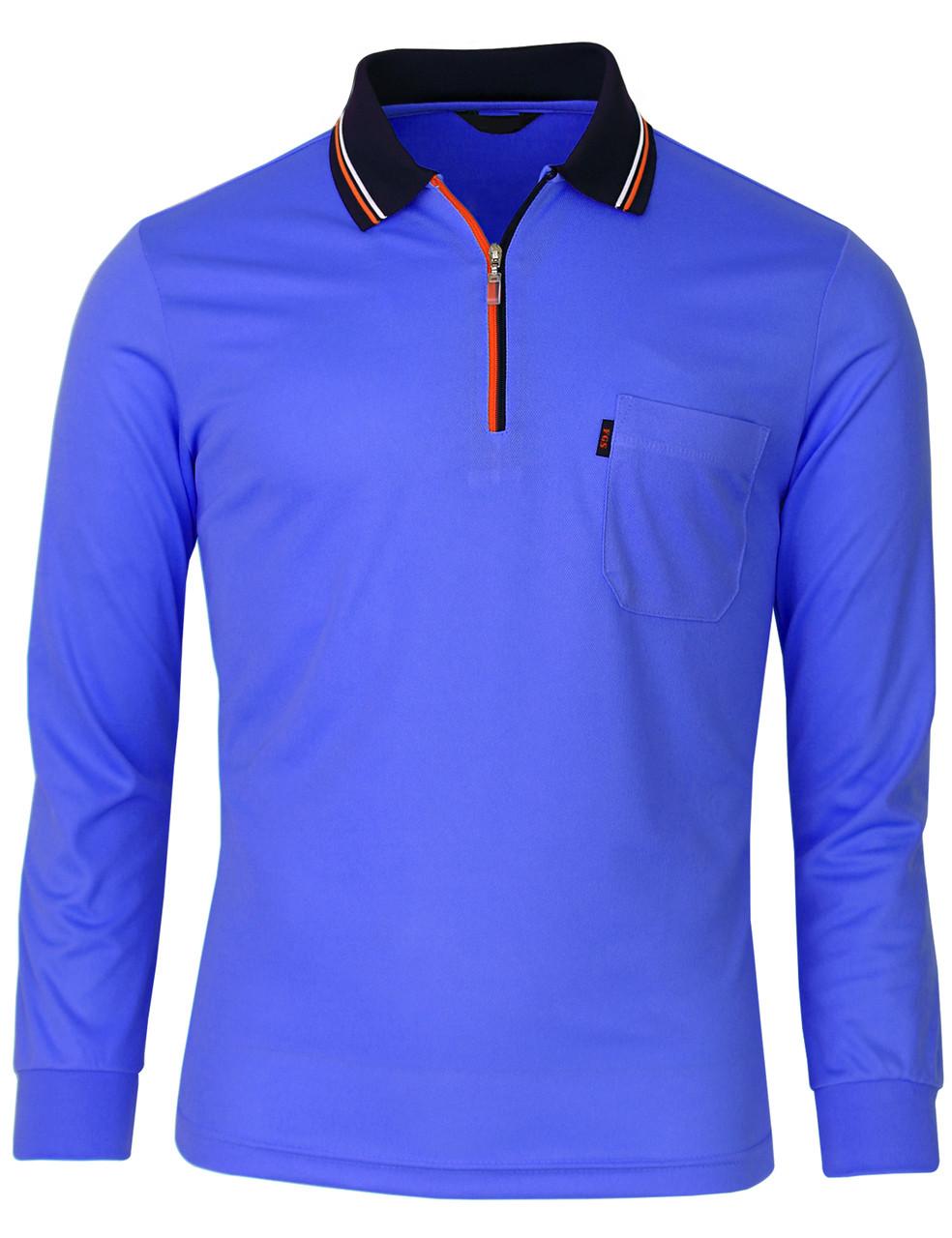 17237c05 Long Sleeve Dri Fit Zip Polo Shirt-Unisex