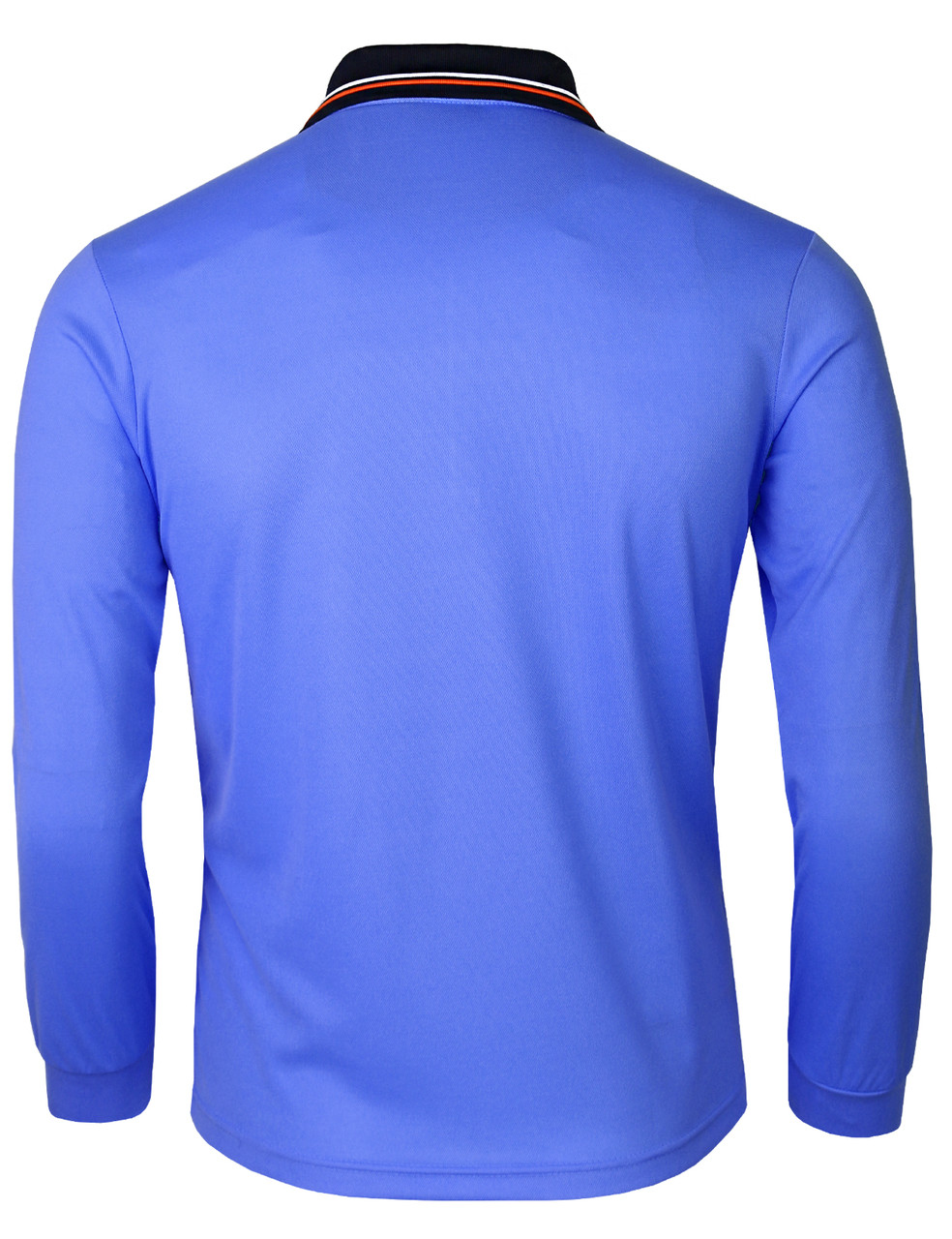 bb8100628 ... Long Sleeve Dri Fit Zip Polo Shirt-Unisex · blue-side · blue-front ·  blue-back