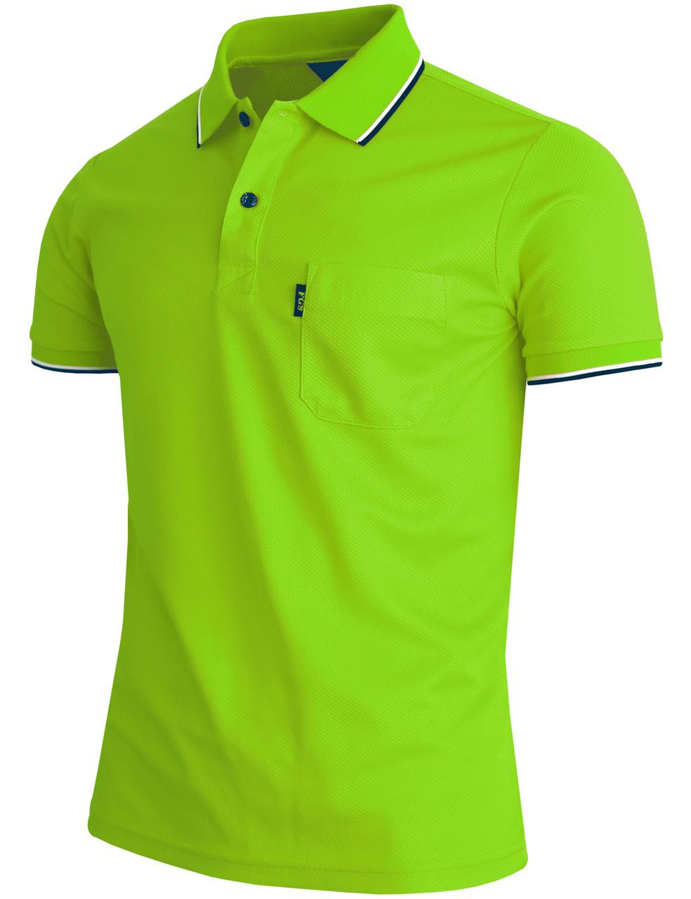 Short Sleeve Dri Fit Point Button Polo Shirt Unisex