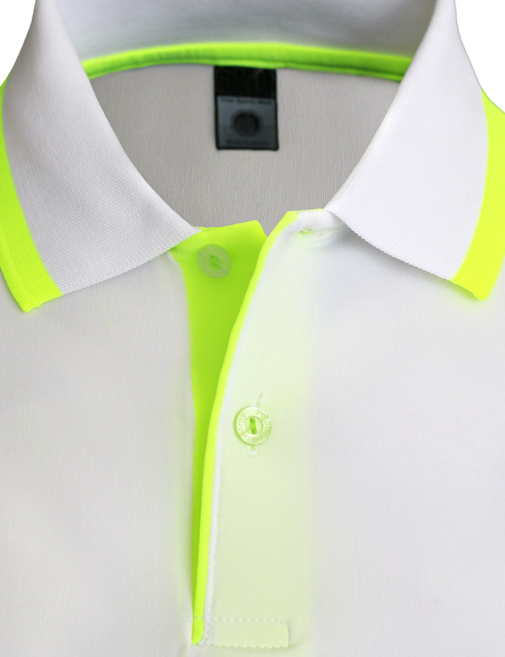 Short Sleeve Raglan Fluorescent Color Spandex Polo Shirt Unisex