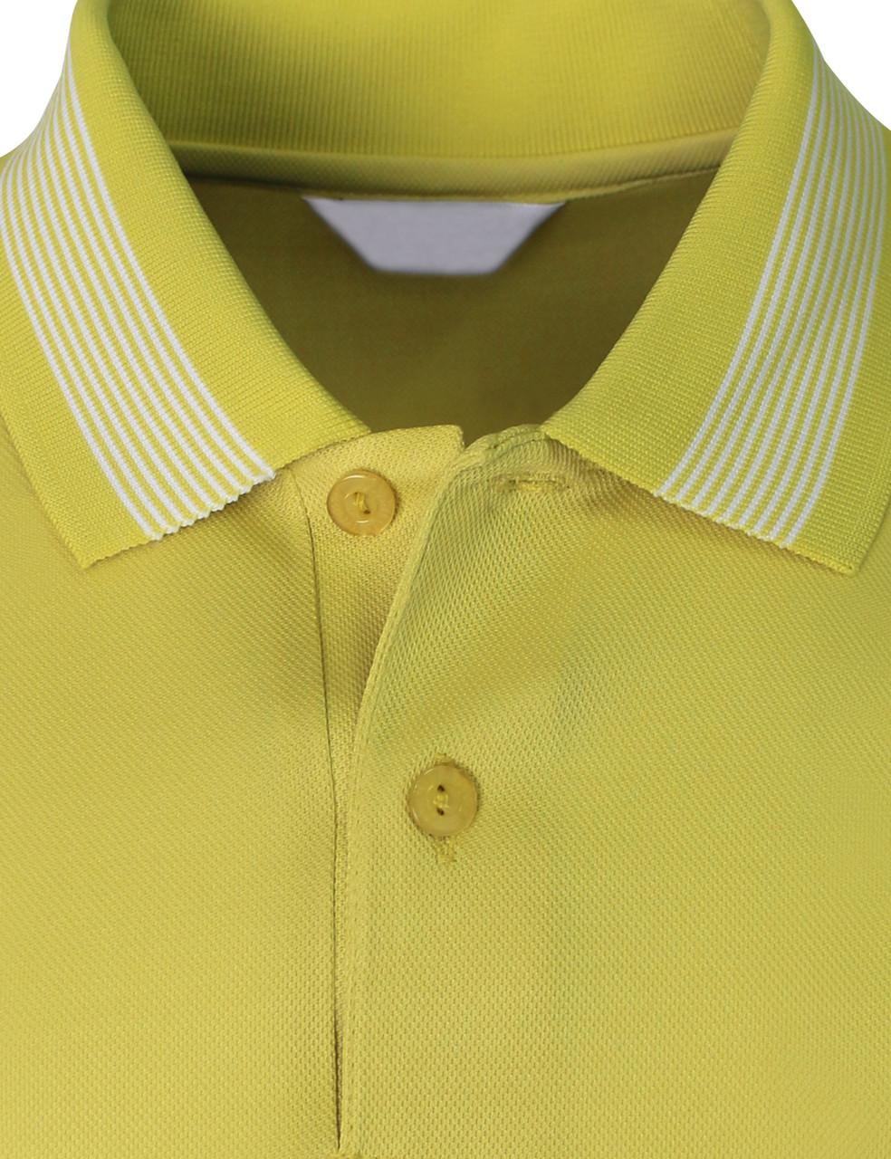 New Summer Polo Shirt Of Short Sleeves Regular Fit Yellow Green