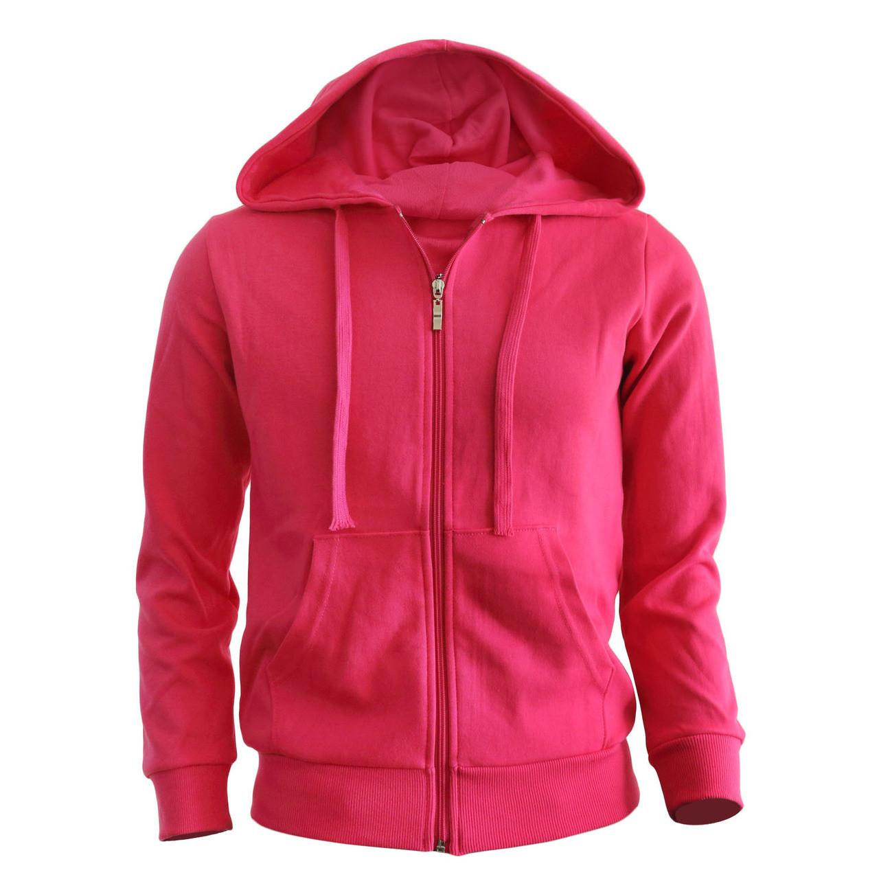 newest collection order online amazing selection zip hoodie Hot pink hoodie Plain Solid zip up hoodie