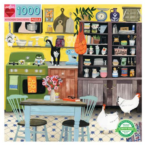 Kitchen Chickens 1000 Piece Puzzle