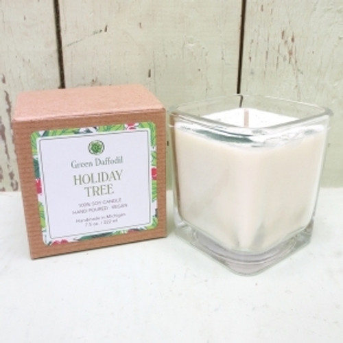 Holiday Tree Glass Candle