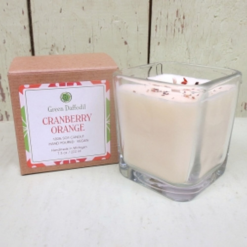 Cranberry Orange Glass Candle