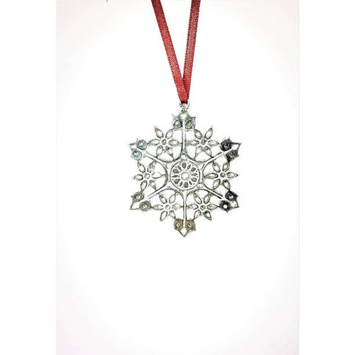 Circular Center  Winter Wonderland Snowflake Ornament