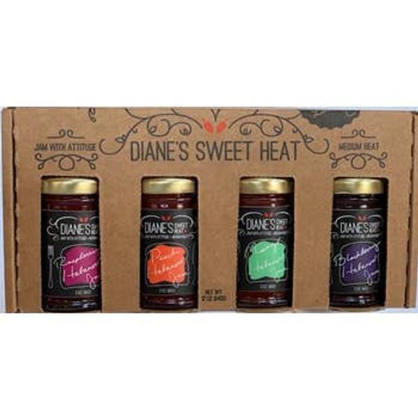Diane's Sweet Heat 4 Pack Jam Sampler