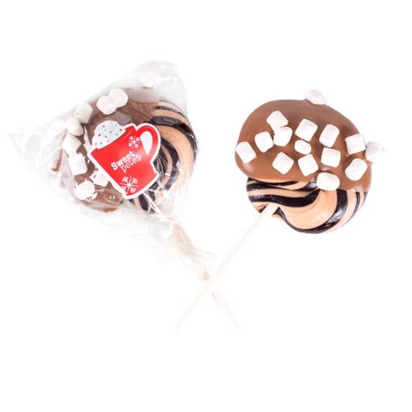 Hot Cocoa Milk Chocolate Dipped Lollipops