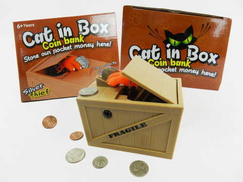 Wholesale Kid's Toy Cat Claw Coin Bank. Teach kid's to save money with this educational toy!