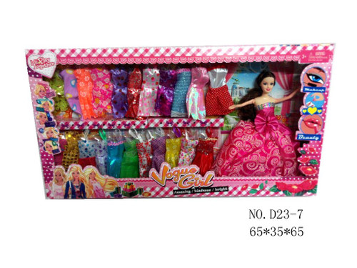 Wholesale Kid's Dress Up Doll Set. Any girl would love to receive this gift for Christmas!