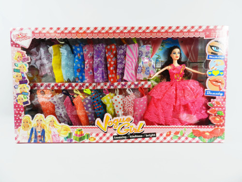 Wholesale Kid's Dress Up Barbie Doll Set. Any girl would love to receive this gift for Christmas!
