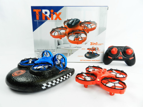 R/C Wholesale kid's Toy hovercraft 3-in-1 drone. Not only is this a drone, but its also a boat, and hovercraft too! This will be every kid's favorite this Christmas!