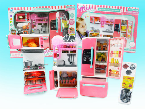 R/C wholesale Kid's toy kitchen playset. What little girl doesn't love playing pretend cook in a pretend kitchen?