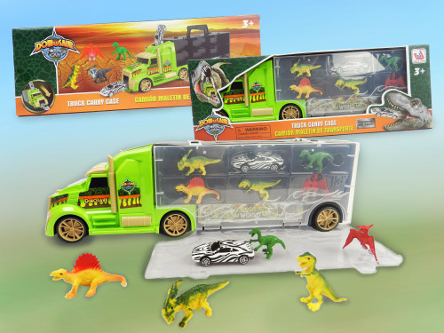 Best Wholesale Kid's Toy Truck with Dinosaur figures Playset