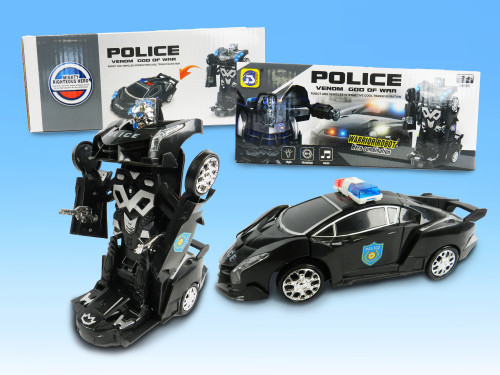Best wholesale supplier kid's transformer police car toy excellent gift holiday sales!