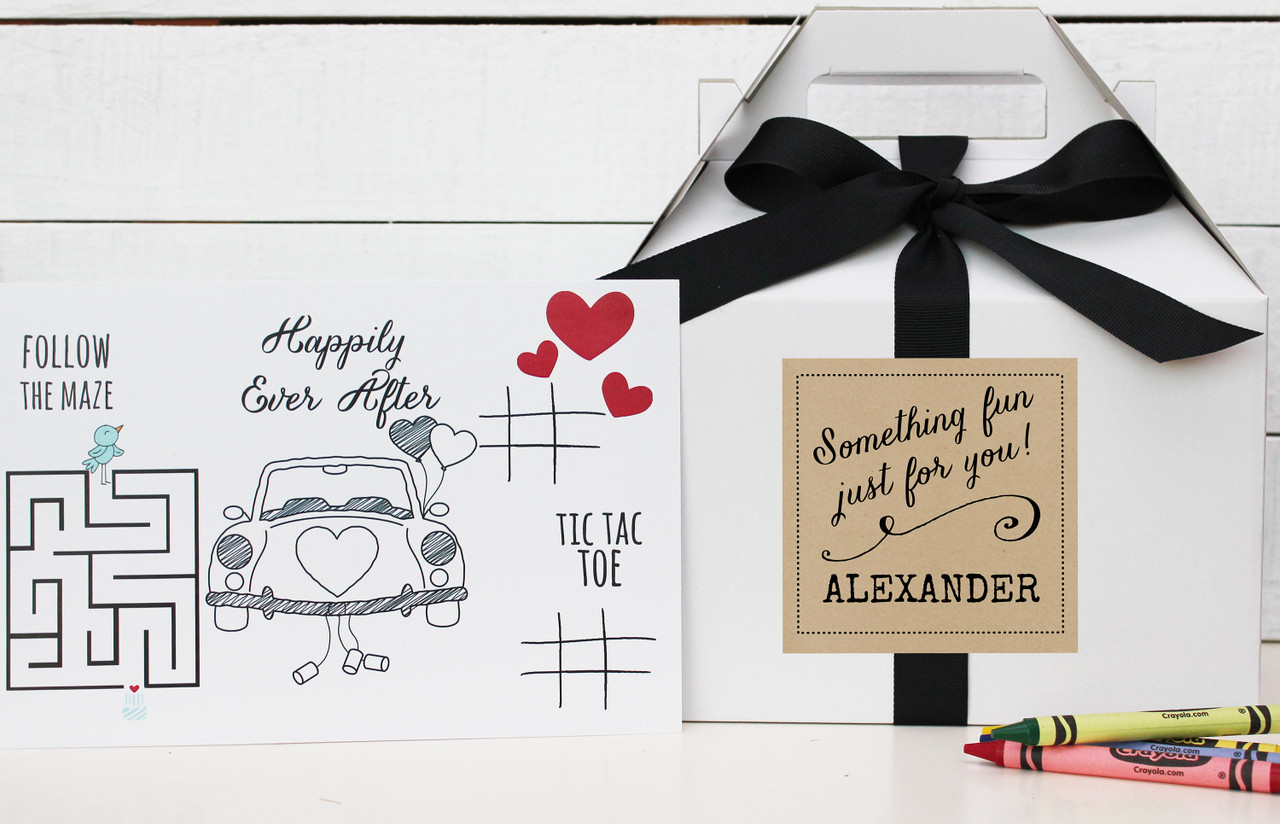 Kids Wedding Activity Box Something Fun Label
