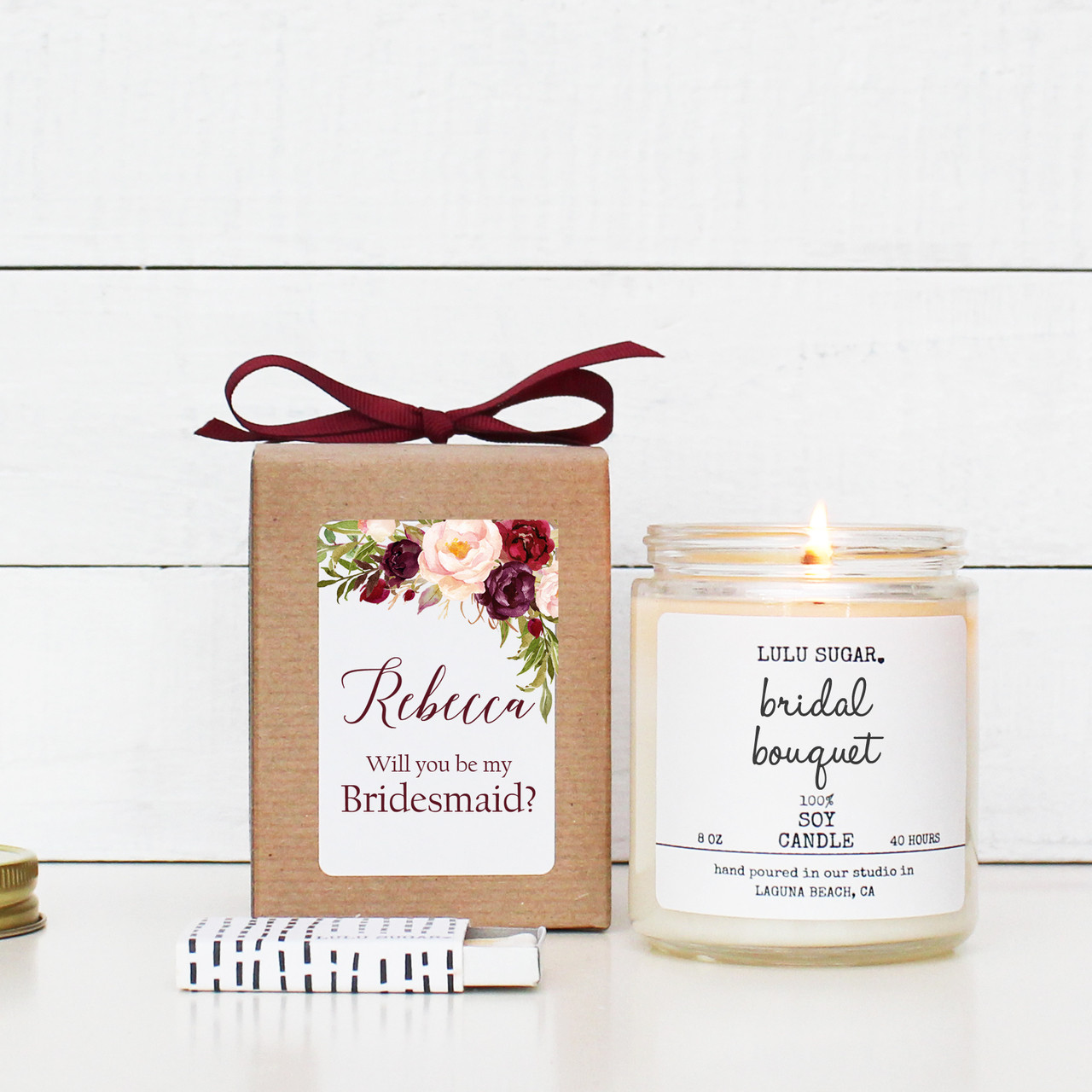 Maid of Honour 4 for £10 Thank you for being our Bridesmaid flower girl candle