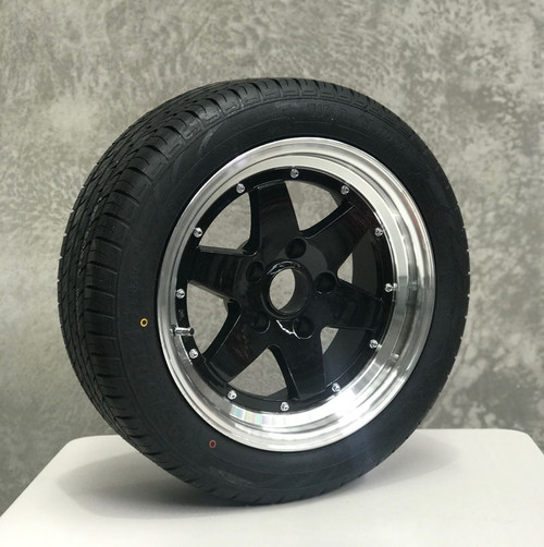 15×7 Machined Alloy Wheel and 195/50 Radial Tyre Complete Ford