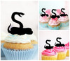 TA0874 Aggressive Snake Silhouette Party Wedding Birthday Acrylic Cupcake Toppers Decor 10 pcs