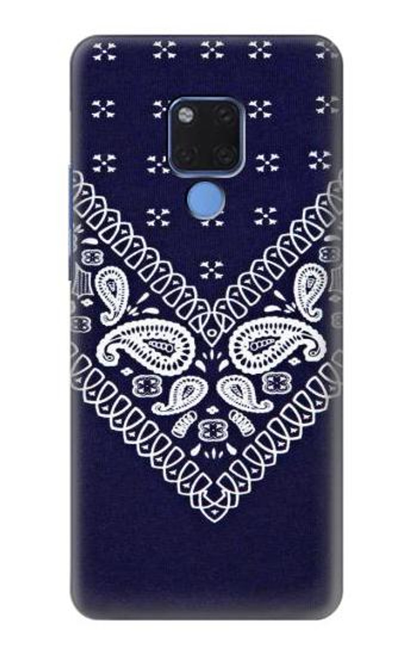 best service ee663 e1092 S3357 Navy Blue Bandana Pattern Case For Huawei Mate 20 X