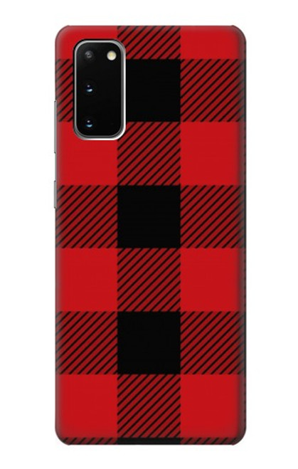 S2931 Red Buffalo Check Pattern Case For Samsung Galaxy S20