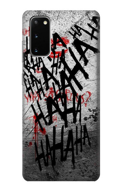 S3073 Joker Hahaha Blood Splash Case For Samsung Galaxy S20