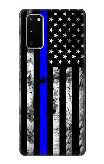 S3244 Thin Blue Line USA Case For Samsung Galaxy S20