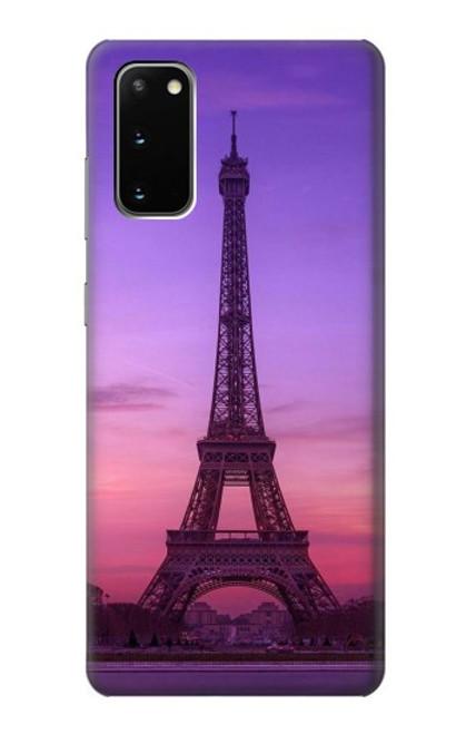 S3447 Eiffel Paris Sunset Case For Samsung Galaxy S20