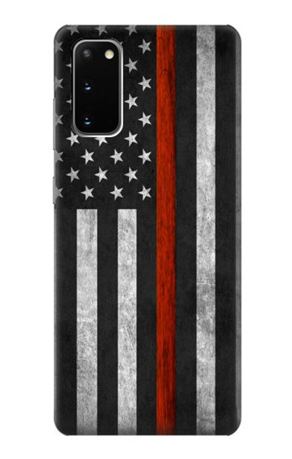 S3472 Firefighter Thin Red Line Flag Case For Samsung Galaxy S20