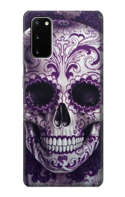 S3582 Purple Sugar Skull Case For Samsung Galaxy S20