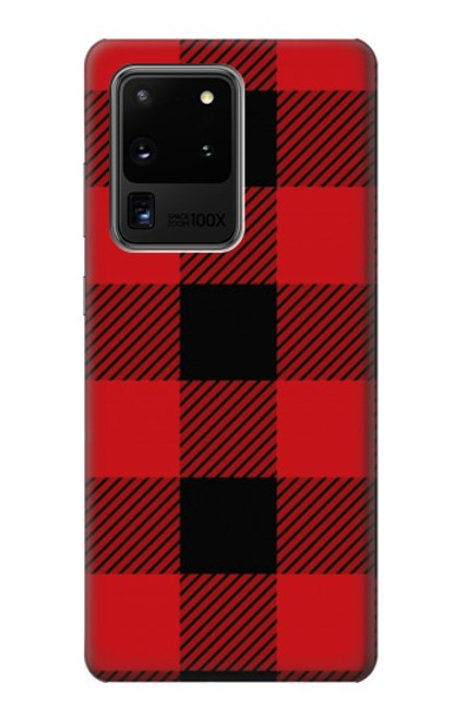 S2931 Red Buffalo Check Pattern Case For Samsung Galaxy S20 Ultra