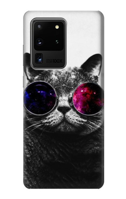 S3054 Cool Cat Glasses Case For Samsung Galaxy S20 Ultra
