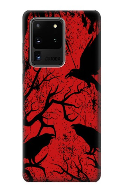 S3325 Crow Black Blood Tree Case For Samsung Galaxy S20 Ultra