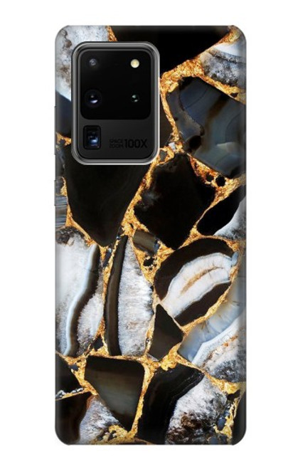 S3419 Gold Marble Graphic Print Case For Samsung Galaxy S20 Ultra
