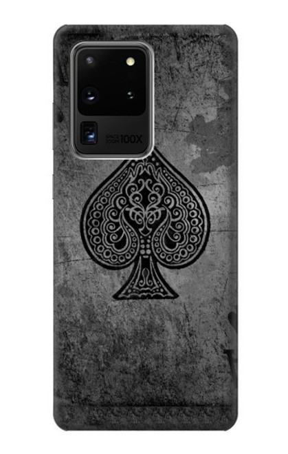 S3446 Black Ace Spade Case For Samsung Galaxy S20 Ultra
