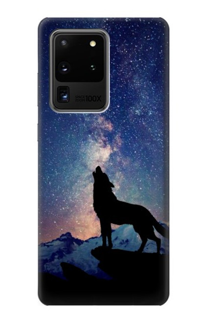 S3555 Wolf Howling Million Star Case For Samsung Galaxy S20 Ultra