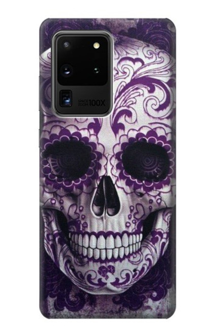 S3582 Purple Sugar Skull Case For Samsung Galaxy S20 Ultra