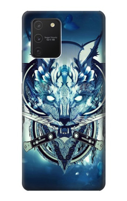 S1135 Wolf with knives Rock Case For Samsung Galaxy S10 Lite