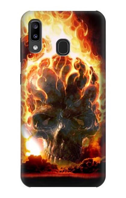 S0863 Hell Fire Skull Case For Samsung Galaxy A20, Galaxy A30