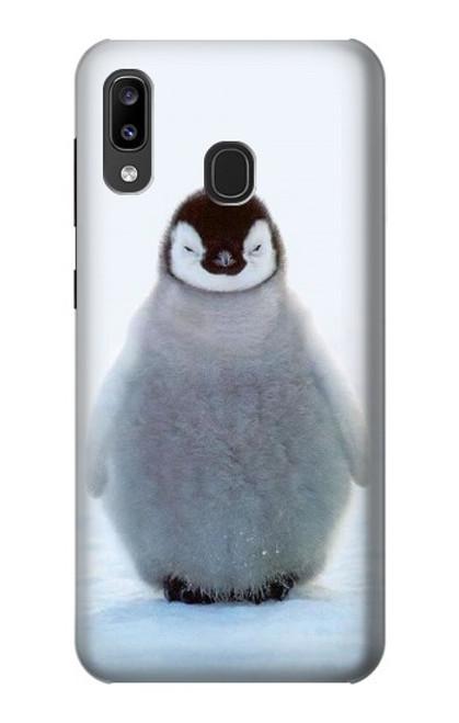S1075 Penguin Ice Case For Samsung Galaxy A20, Galaxy A30