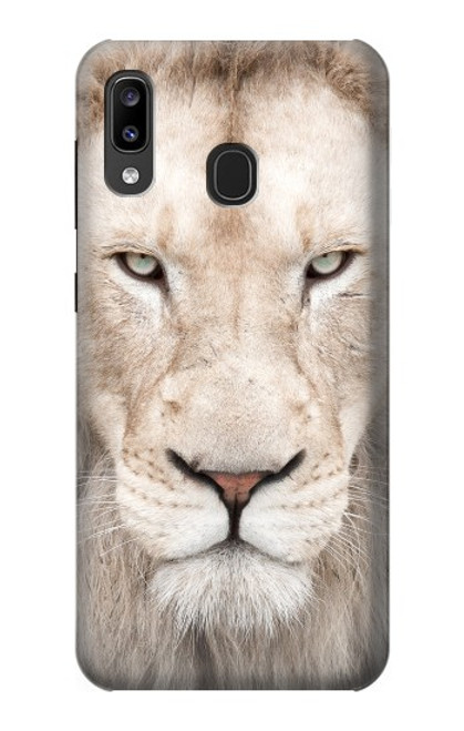 S2399 White Lion Face Case For Samsung Galaxy A20, Galaxy A30