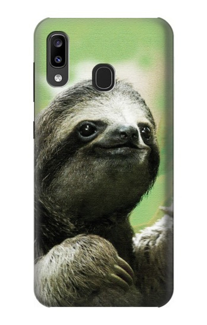 S2708 Smiling Sloth Case For Samsung Galaxy A20, Galaxy A30
