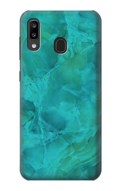S3147 Aqua Marble Stone Case For Samsung Galaxy A20, Galaxy A30