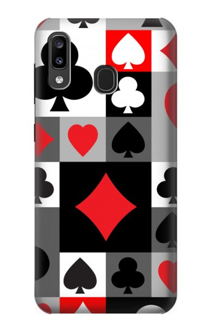 S3463 Poker Card Suit Case For Samsung Galaxy A20, Galaxy A30