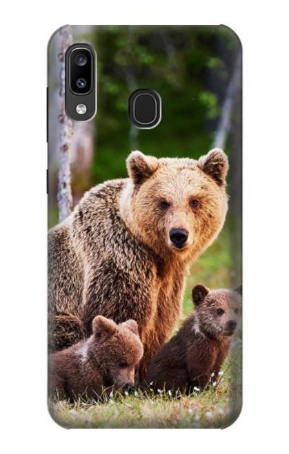 S3558 Bear Family Case For Samsung Galaxy A20, Galaxy A30