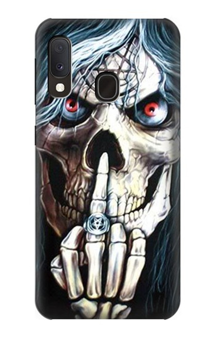 S0222 Skull Pentagram Case For Samsung Galaxy A20e