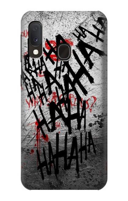 S3073 Joker Hahaha Blood Splash Case For Samsung Galaxy A20e