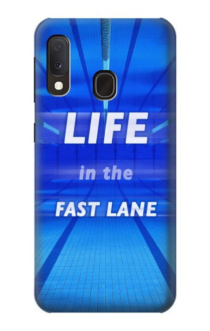 S3136 Life in the Fast Lane Swimming Pool Case For Samsung Galaxy A20e