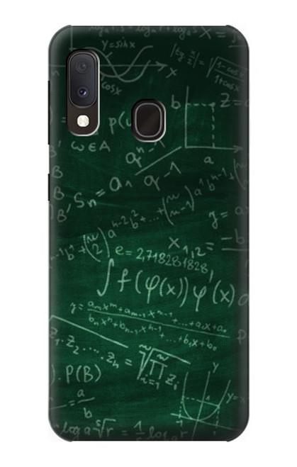 S3190 Math Formula Greenboard Case For Samsung Galaxy A20e