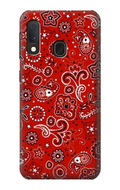 S3354 Red Classic Bandana Case For Samsung Galaxy A20e